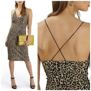 Topshop Leopard Print Bodycon Dress